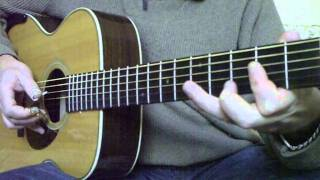 BROONZY: WILLIE MAE - guitar lesson by M.Lelong