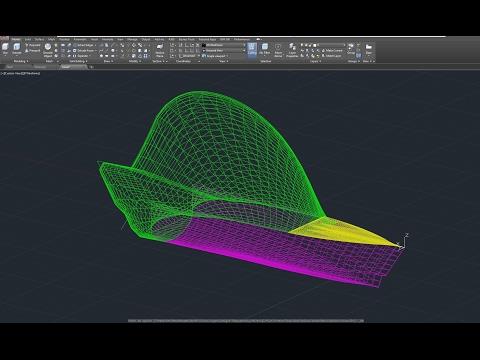 Beginner Tutorial 2 (AutoCAD 2017) - Designing a Yacht (Boat)