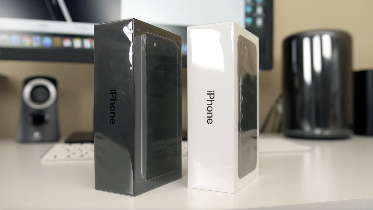 Iphone 7 Unboxing Jet Black And Black Youtube