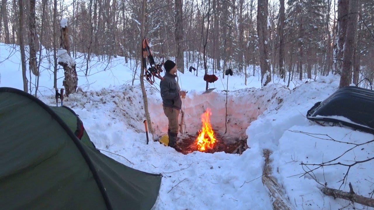 Winter Camping, Day 1, LOTS of Snow, Algonquin Park 2017 ...