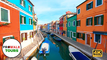 Burano, Venice Walking Tour [4K 60fps]