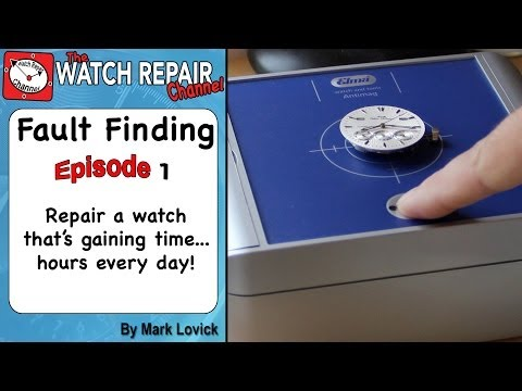 Watch Fault Finding. Episode 1. The watch is gaining a huge amount of time. Learn how to repair.