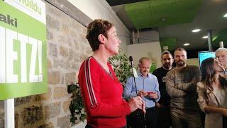 """Bel Pozueta, elegida diputada de EH Bildu, dice que defenderá """"justicia y democracia"""""""
