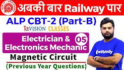4:00 PM - RRB ALP CBT-2 2018   Electrician by Ratnesh Sir   Magnetic Circuit (Previous Year Ques)
