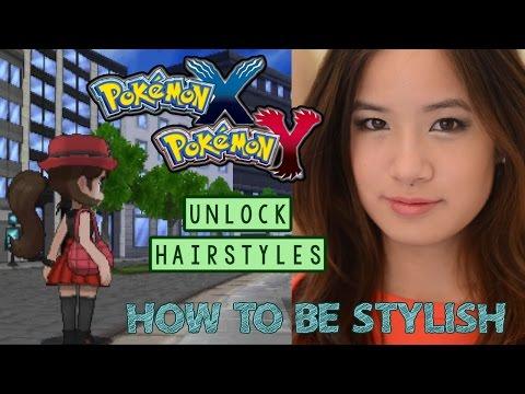 How to be Stylish & Unlock New Hairstyles   Pokemon XY