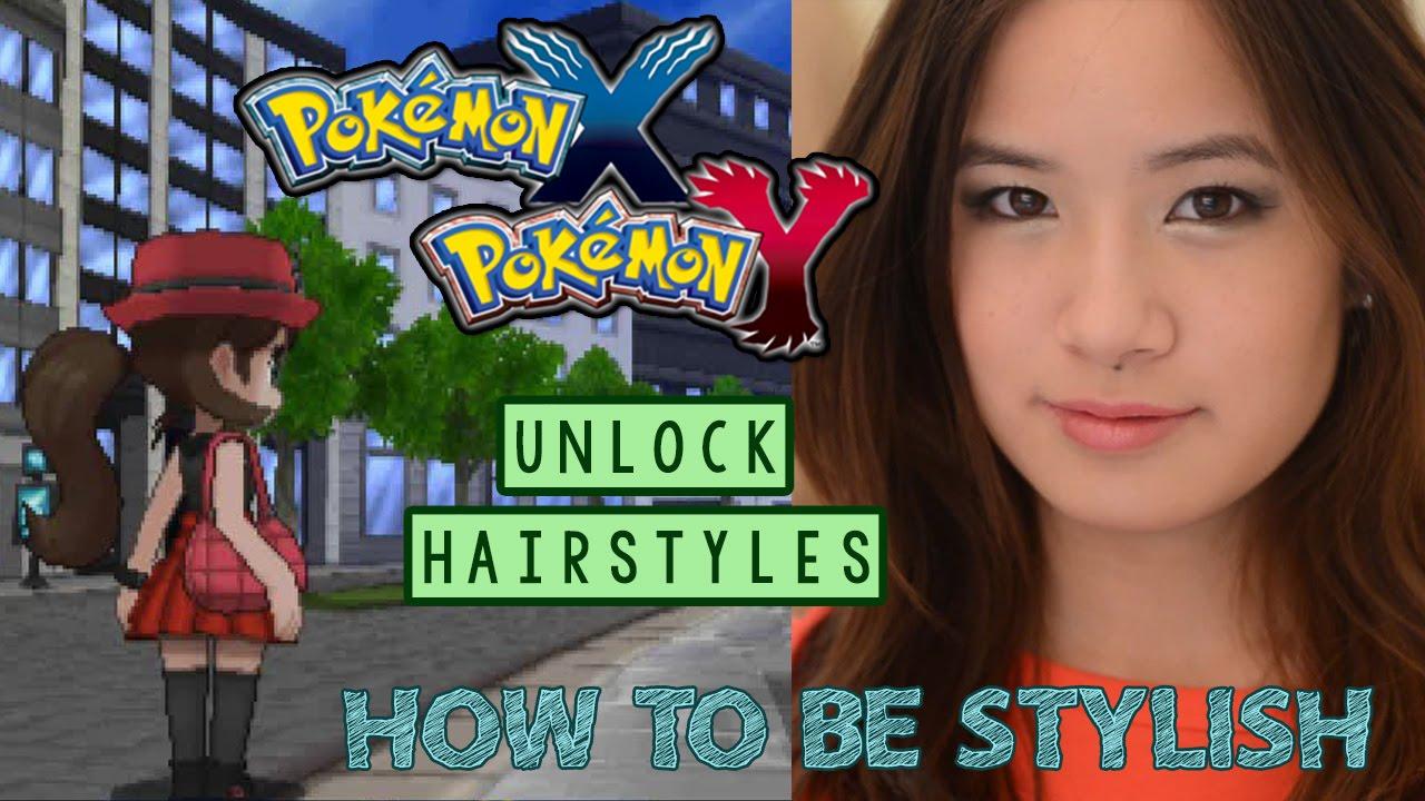 how to be stylish & unlock new hairstyles | pokemon xy