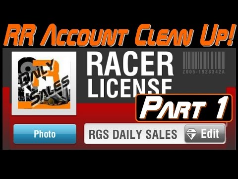 Racing Rivals Acc Clean Up Part 1 | A Whole New Account!