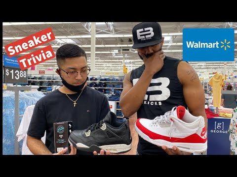 Sneaker Trivia At Walmart- Asking Strangers