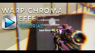 Sony Vegas Editing Tutorial - Warp Chroma Effect (Colourburst, RGB Colour, 3D Effect)