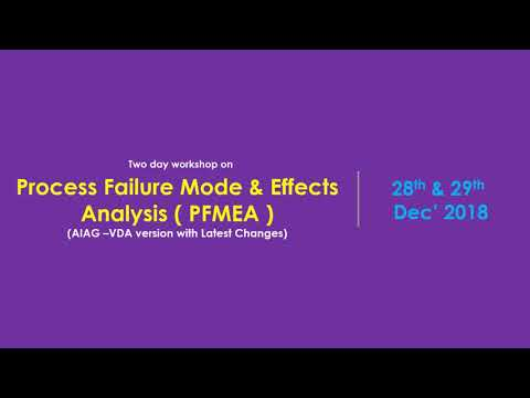 Process FMEA (PFMEA) (AIAG – VDA version with latest changes)
