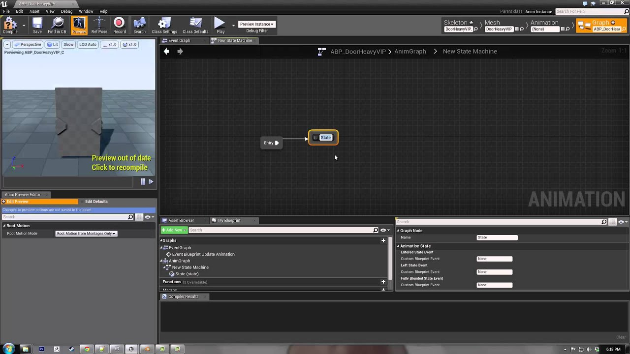 Ue4 animated door tutorial part 1 youtube malvernweather Choice Image