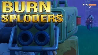 QUAD LAUNCHER | Burn Down Sploders (Propane) without igniting in Fortnite PvE