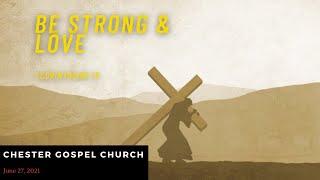 1 Corinthians 16 Be Strong & Love