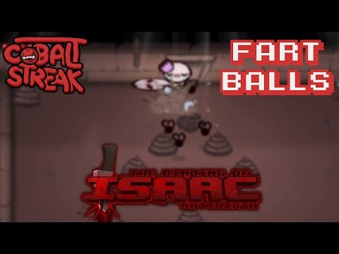 Isaac Antibirth Mod #35 - Fart Balls - Cobalt Streak