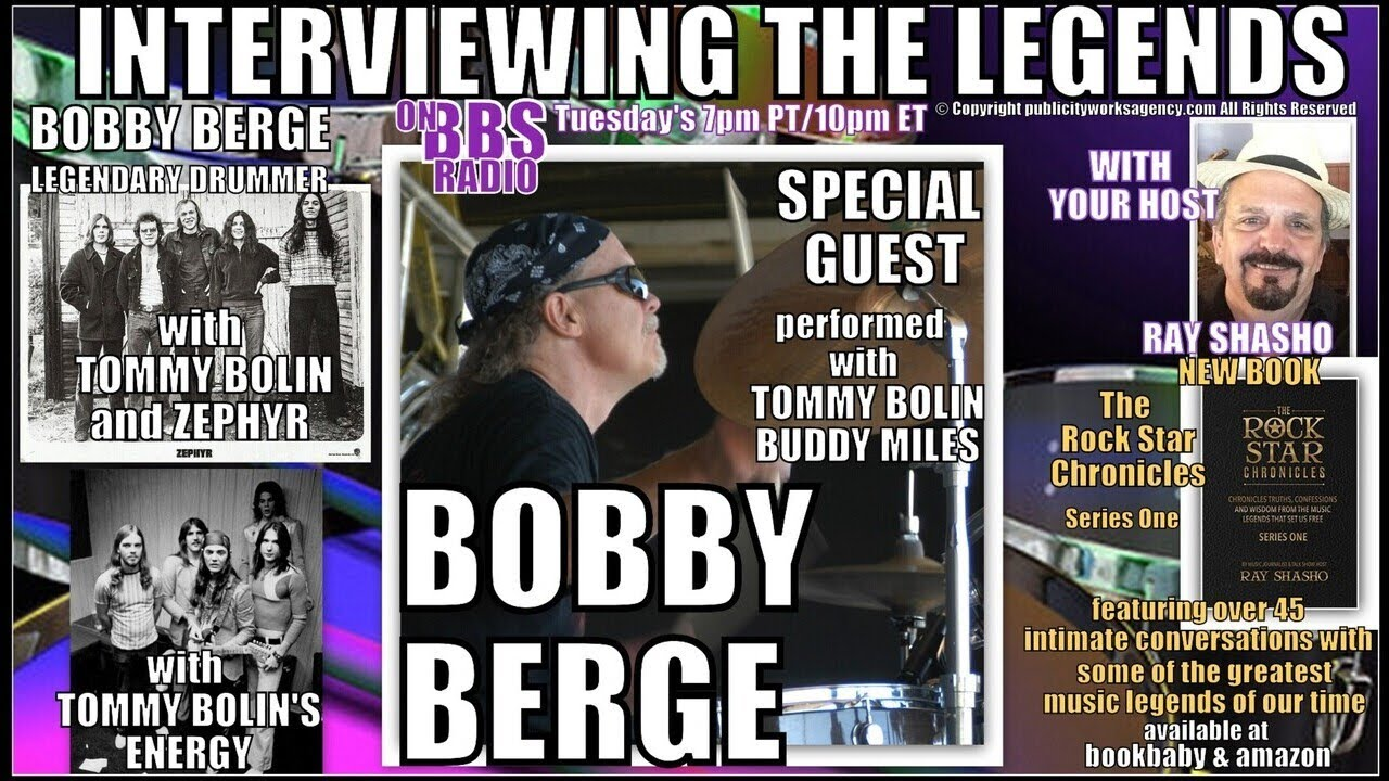 Bobby Berge Legendary Drummer with Tommy Bolin and Buddy Miles