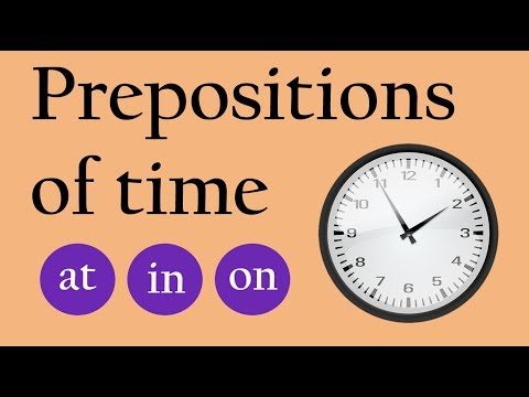 Prepositions Of Time Quiz - At, In, On