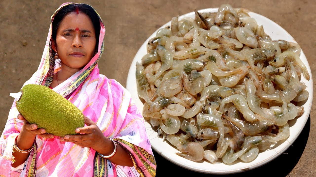 Echor chingri recipe village style cooking raw jackfruit with echor chingri recipe village style cooking raw jackfruit with prawn indian village food recipes videos forumfinder Image collections