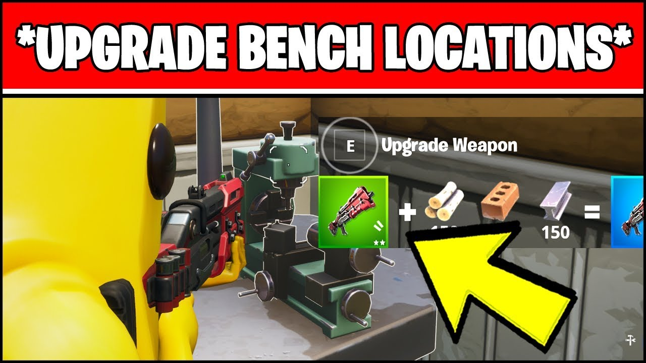 Upgrade An Item At A Weapon Upgrade Bench Locations Fortnite Chapter 2 Week 3 Challenges
