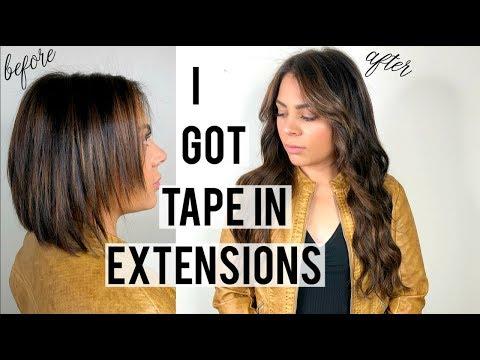I GOT TAPE-IN EXTENSIONS | VLOG