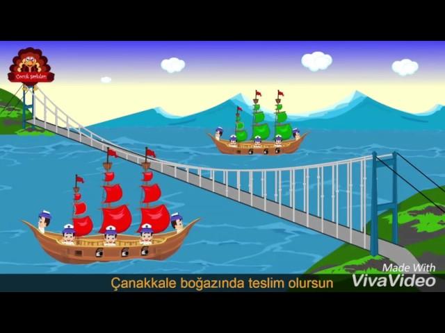 Türklerin gemisi kırmızı direkli
