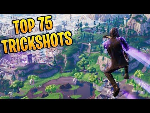 TOP 75 FORTNITE TRICKSHOTS OF ALL TIME! (Fortnite Battle Royale Montage)