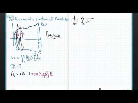 Calculus  3 Chapter 8.2 Areas of Surface of Revolution
