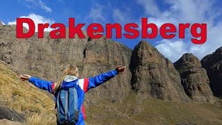 Hiking the Amphitheatre in Drakensberg, South Africa