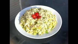 Салат с Тунцом и Авокадо без майонеза.