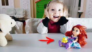 Куколка Ариель. Алина играет с принцессами дисней. Disney Princess Ariel.