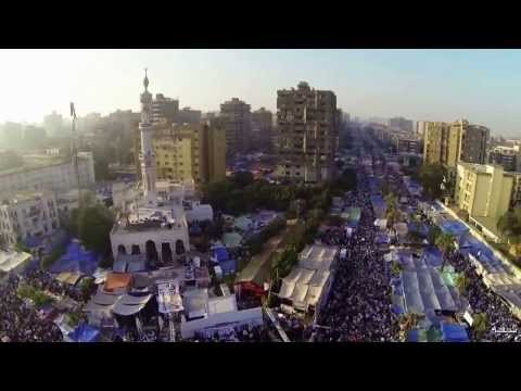 How do Anti-coup protesters in Egypt film their massive protests ..creative