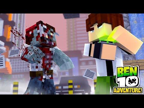 Minecraft Ben10 Adventure - BEN 10 VS ZOMBIE APOCALYPSE!