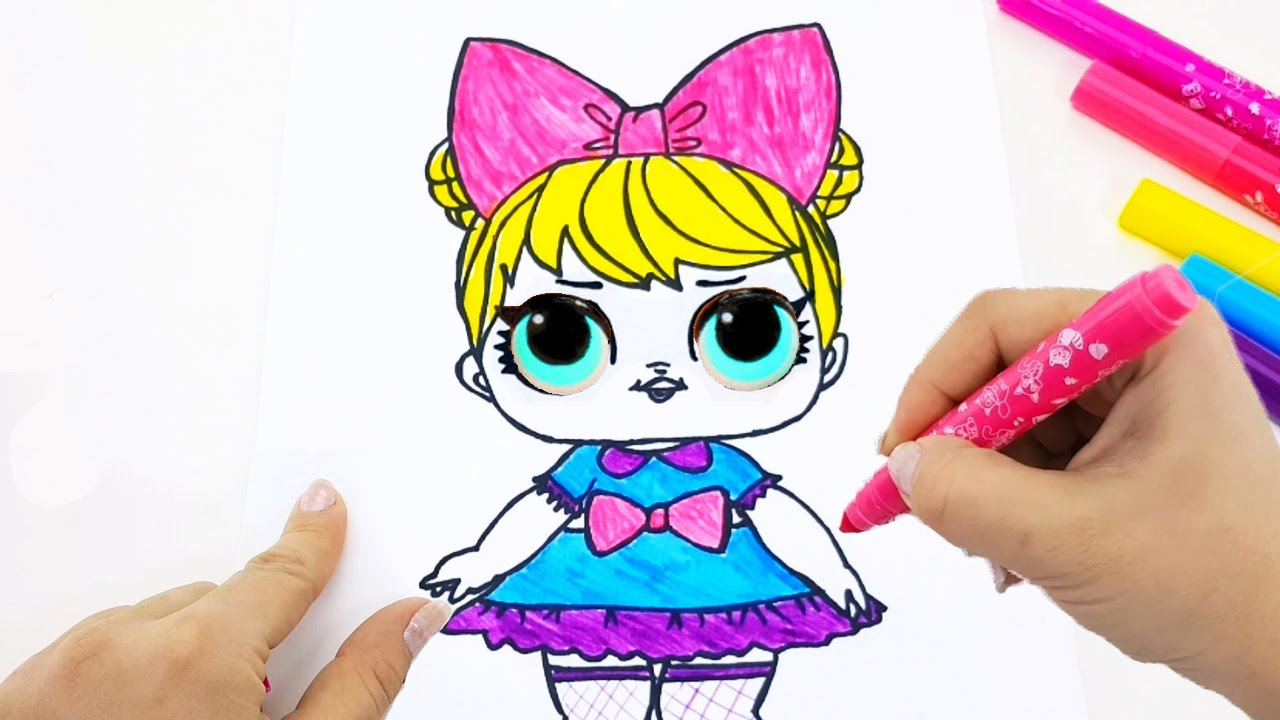 Куклы Лол раскраска. Учим цвета. Развивающие раскраски для ...