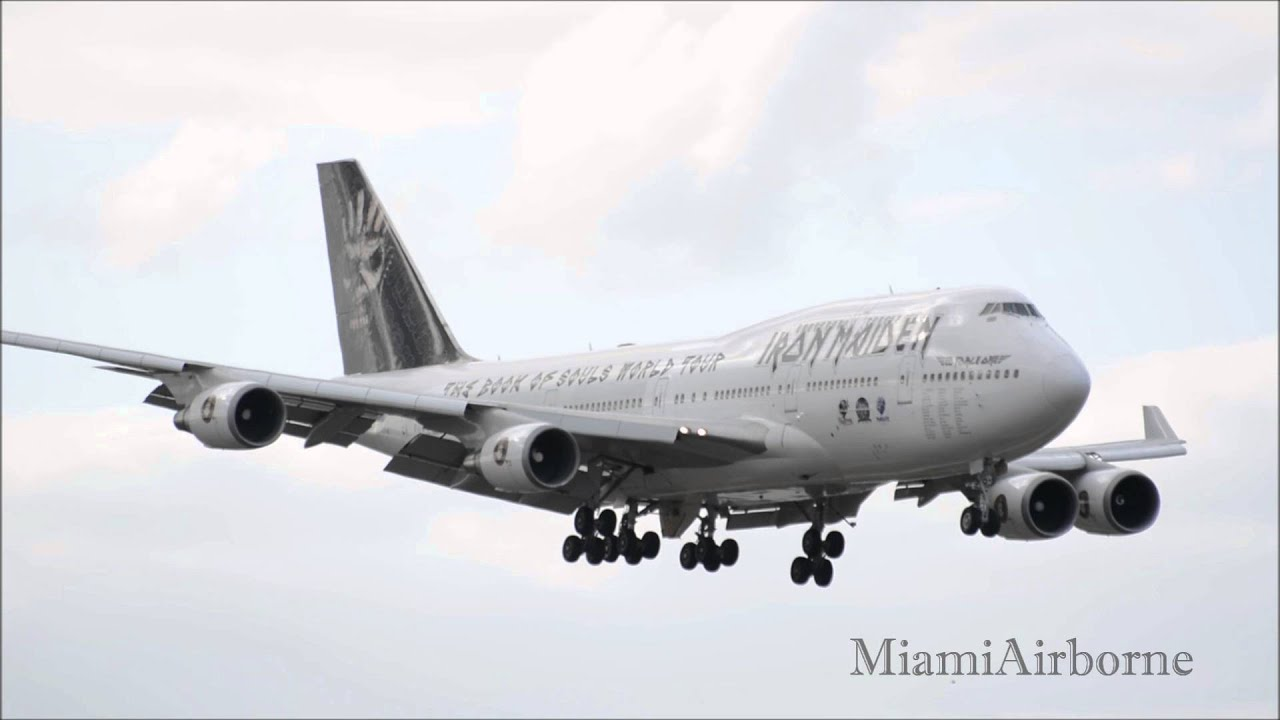iron maiden ed force one 747 landing ft lauderdale fll youtube. Black Bedroom Furniture Sets. Home Design Ideas