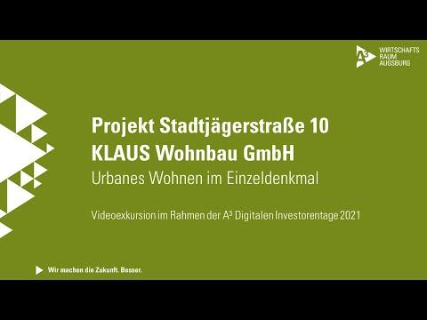 A³ Digitale Investorentage 2021: Videoexkursion KLAUS Wohnbau GmbH | Projekt Stadtjägerstr. 10
