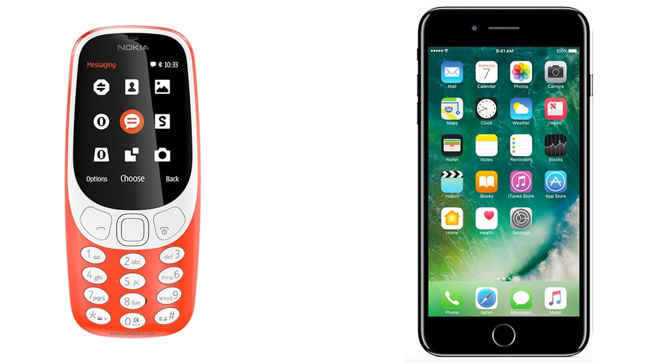 nokia 3310 vs iphone 5. NEW Nokia 3310 Vs. IPhone 7 Plus! Vs Iphone 5 O