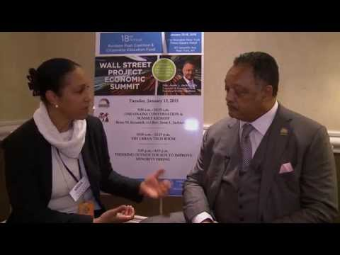 Rev. Jesse Jackson interviewed by Yovette Markey for Martin Luther King