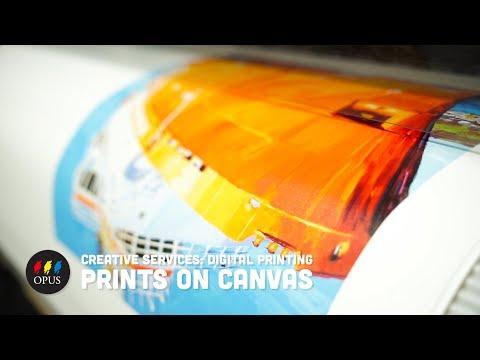 Creative Services: Digital Printing - Prints on Canvas