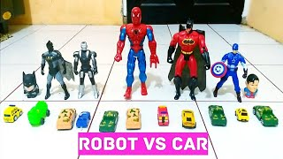 ROBOT vs CAR (SUPERHERO EXPERIMENT)