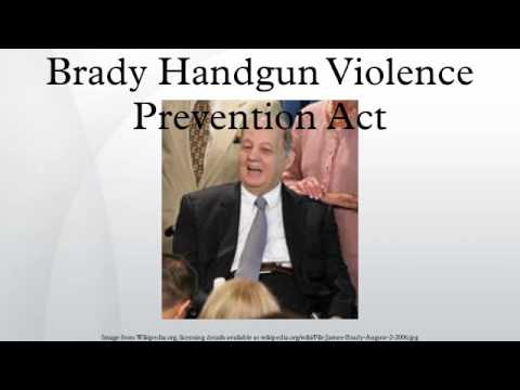 Brady Handgun Violence Prevention Act