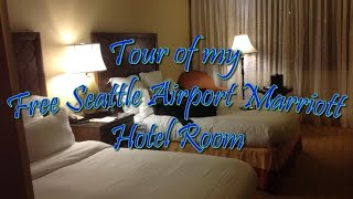 Tour of my Free Seattle Airport Marriott Hotel Room [07 Jan 2015] Mp3