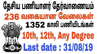 SSC Recruitment 2019 | Staff Selection Commission | central govt jobs | job today | Red Tamizha