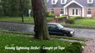 Deadly Lightning Strike! - Caught on Tape