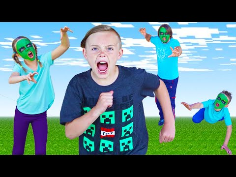 Minecraft Invasion! Race to Save Jack! Chase Game with the Fun Squad!