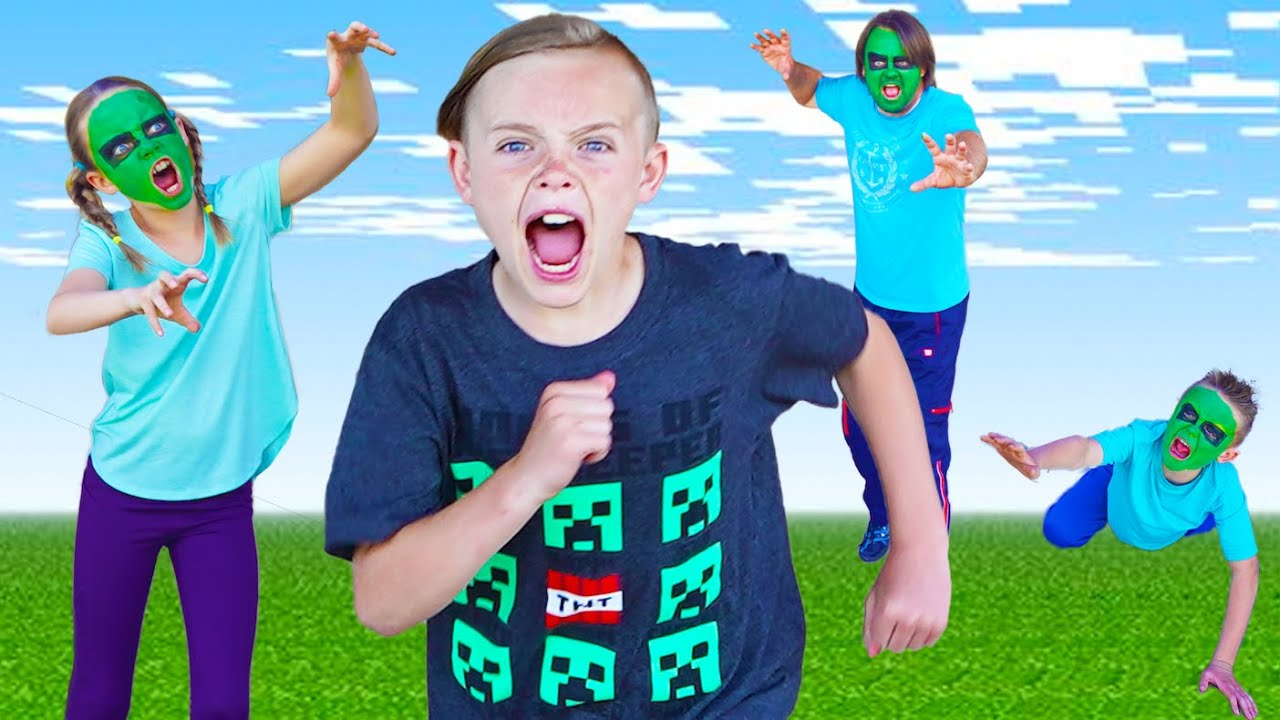 Download Minecraft Invasion! Race to Save Jack! Chase Game with the Fun Squad!