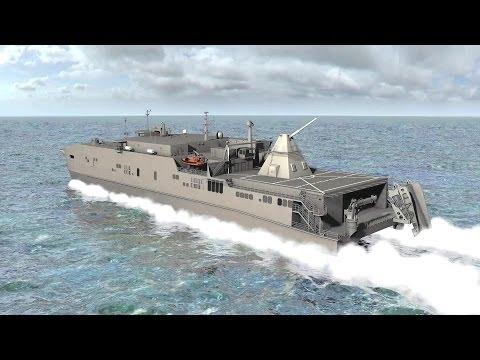 BAE Systems - Electromagnetic Railgun Test Firing Hyper Velocity Rounds + JHSV Concept [1080p]