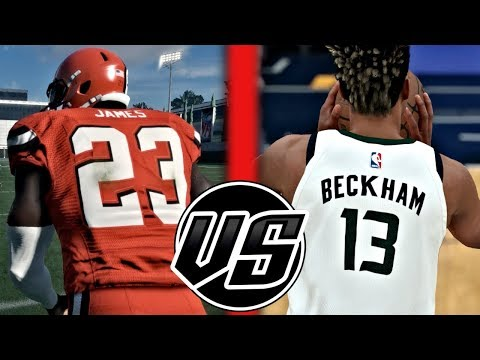 Can LeBron James Catch A Hail Mary Before Odell Beckham Jr Can Hit A Half Court Shot?