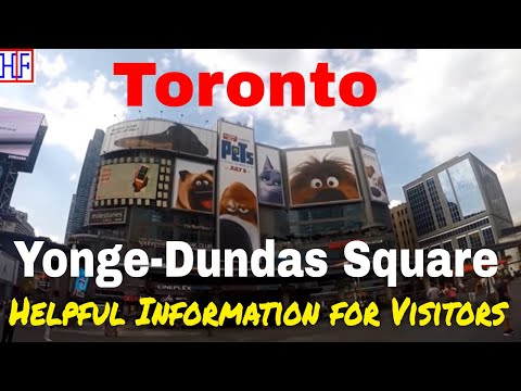 Toronto | Yonge-Dundas Square | Tourist Attractions | Episode# 9