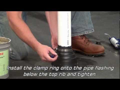 Rubbergard Epdm Pipe Flashing Youtube