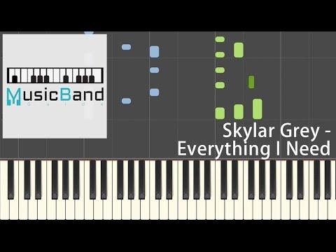 Skylar Grey - Everything I Need - Piano Tutorial [HQ] Synthesia