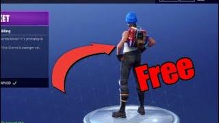 Fortnite| battle royal - NEW FREE BACK BLING (RUS BUCKET) 2018 Limited